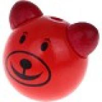 Figurita 3D madera PREMIUM- Osito sonrisa 25 mm - Rojo