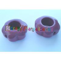 Figurita de madera PREMIUM-Flor hueca 29x12mm-  Violeta 32