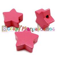 Figurita de madera PREMIUM- Estrella 18x18 mm - Rosa 04