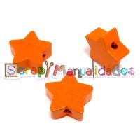 Figurita de madera PREMIUM- Estrella 18x18 mm - Mandarina 12