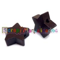 Figurita de madera PREMIUM- Estrella 18x18 mm - Chocolate 23