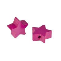 Figurita de madera PREMIUM- Estrella 18x18 mm - Magenta 27