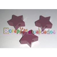 Figurita de madera PREMIUM- Estrella 18x18 mm - Violeta 32