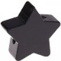 Figurita de madera PREMIUM- Estrella 18x18 mm - Negro 44