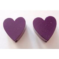 Figurita madera PREMIUM- Corazon picudito 20x18 mm -Purpura 08