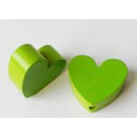 Figurita madera PREMIUM- Corazon picudito 20x18mm -Verde lima 16