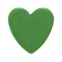 Figurita madera PREMIUM- Corazon picudito 20x18 mm -Verde 17