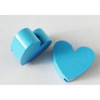 Figurita madera PREMIUM- Corazon picudito 20x1 - Azul celeste 19