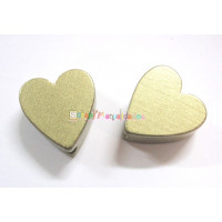 Figurita madera PREMIUM- Corazon picudito 20x18 mm -  Dorado 024
