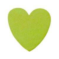 Figurita madera PREMIUM- Corazon picudito 20x18 - Verde limon 26