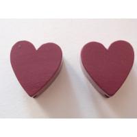 Figurita madera PREMIUM- Corazon picudito 20x18 mm - Violeta 32