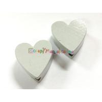 Figurita madera PREMIUM- Corazon picudito 20x18 mm - Gris claro