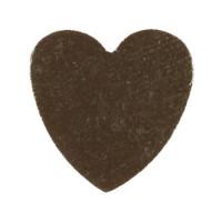 Figurita madera PREMIUM- Corazon picudito 20x18 mm  - Negro 44