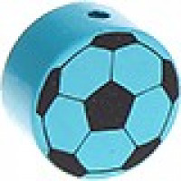 Figurita de madera PREMIUM- Balon de futbol 20 mm- Turquesa 22