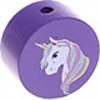Figurita PREMIUM-  Moneda unicornio 20 mm - Morado 07