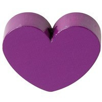 Figurita PREMIUM- Corazon redondito 18x18 mm - Purpura 08