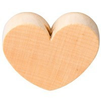 Figurita PREMIUM- Corazon redondito 18x18 mm - Natural 09