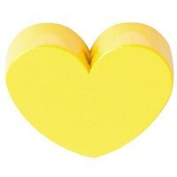 Figurita PREMIUM- Corazon redondito 18x18 mm - Amarillo pastel