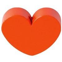 Figurita PREMIUM- Corazon redondito 18x18 mm - Naranja 13