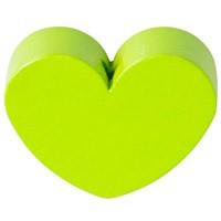 Figurita PREMIUM- Corazon redondito 18x18 mm - Verde lima 16