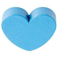 Figurita PREMIUM- Corazon redondito 18x18 mm - Azul celeste 19