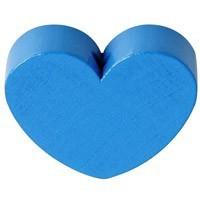Figurita PREMIUM- Corazon redondito 18x18 mm - Azul medio 20