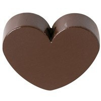 Figurita PREMIUM- Corazon redondito 18x18 mm - Marron 23