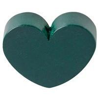 Figurita PREMIUM- Corazon redondito 18x18 mm - Verde oscuro 29