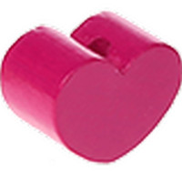 Figurita PREMIUM- Corazon redondito MINI 15x11 mm - Fucsia 05