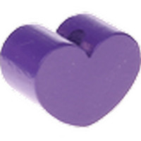 Figurita PREMIUM- Corazon redondito MINI 15x11 mm - Morado 07
