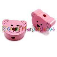 Figurita madera PREMIUM- Osito rosa 20 mm (orif vertical)