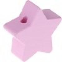 Figurita de madera PREMIUM- Estrella 22 mm - Rosa bebe 02