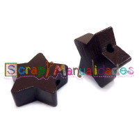 Figurita de madera PREMIUM- Estrella 22 mm - Chocolate 23