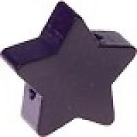 Figurita de madera PREMIUM- Estrella 22 mm -  Violeta oscuro 31