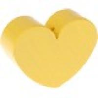 Figurita de madera PREMIUM- Corazon 30x25 mm -Amarillo pastel 10