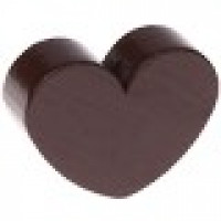 Figurita de madera PREMIUM- Corazon 30x25 mm - Chocolate 23