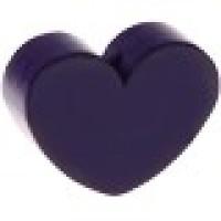 Figurita de madera PREMIUM- Corazon 30x25 mm - Violeta oscuro 31