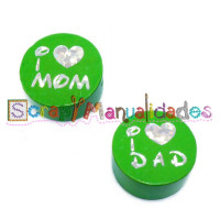 Figurita PREMIUM - Verde lima 16- I Love  MOM/ I Love  DAD
