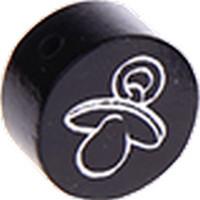 Figurita PREMIUM-  Moneda con chupete grabado 20 mm- Negro 44