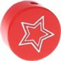 Figurita PREMIUM- Moneda estrella grabada 20 mm- Rojo 014