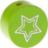 Figurita PREMIUM- Moneda estrella grabada 20 mm- Verde lima 016