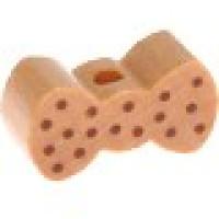 Figurita madera PREMIUM- Mini lacito puntitos 20x10 mm- Natural