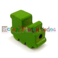 Figurita de madera PREMIUM- Trenecito verde lima  25x15x10 mm