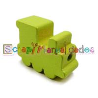 Figurita de madera PREMIUM- Trenecito limon 25x15x10 mm