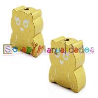 Figurita madera PREMIUM- Figura buho 28x22 mm- Dorado 024