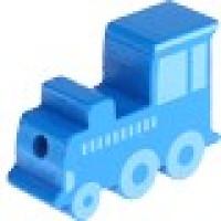 Figurita madera PREMIUM- Trenecito 30x15 mm- Azul medio