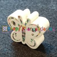 Figurita madera PREMIUM- Figura mariposa 26x23 mm-  Blanco 01