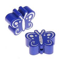 Figurita madera PREMIUM- Figura mariposa 26x23 mm-  Azul marino