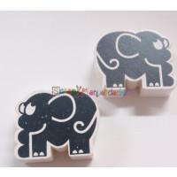 Figurita de madera PREMIUM-  Elefante 30x30 mm- Gris
