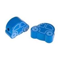Figurita de madera PREMIUM- Cochecito  22x18 mm- Azul fuerte